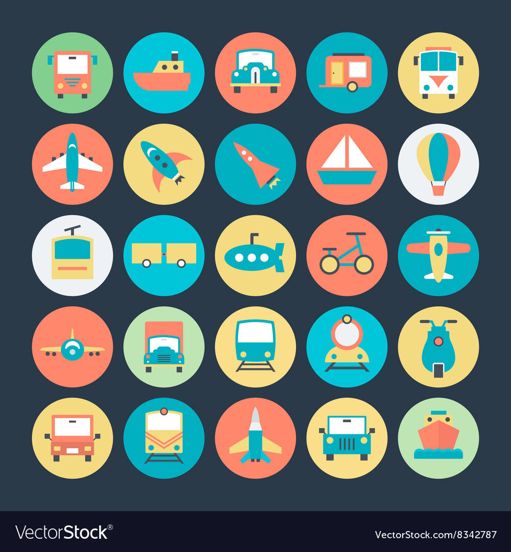 Transport icons 1 vector