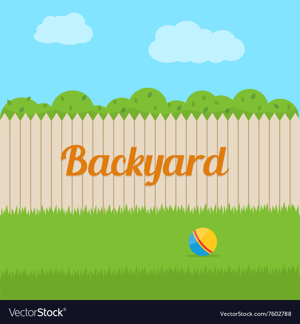 House backyard vector