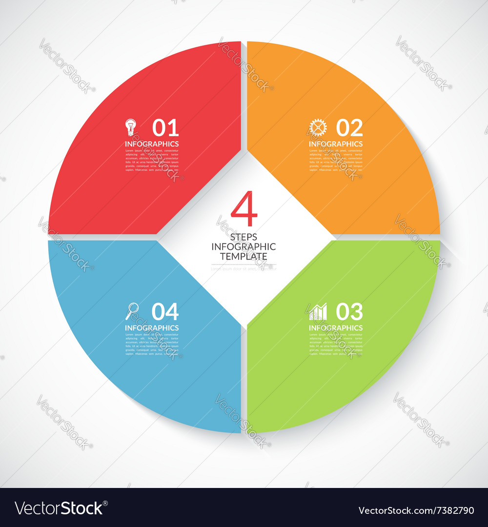 Infographic circle banner vector