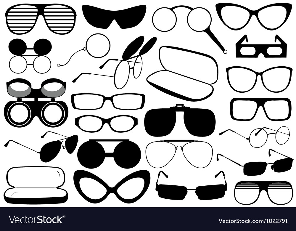 Different eyeglasses vector