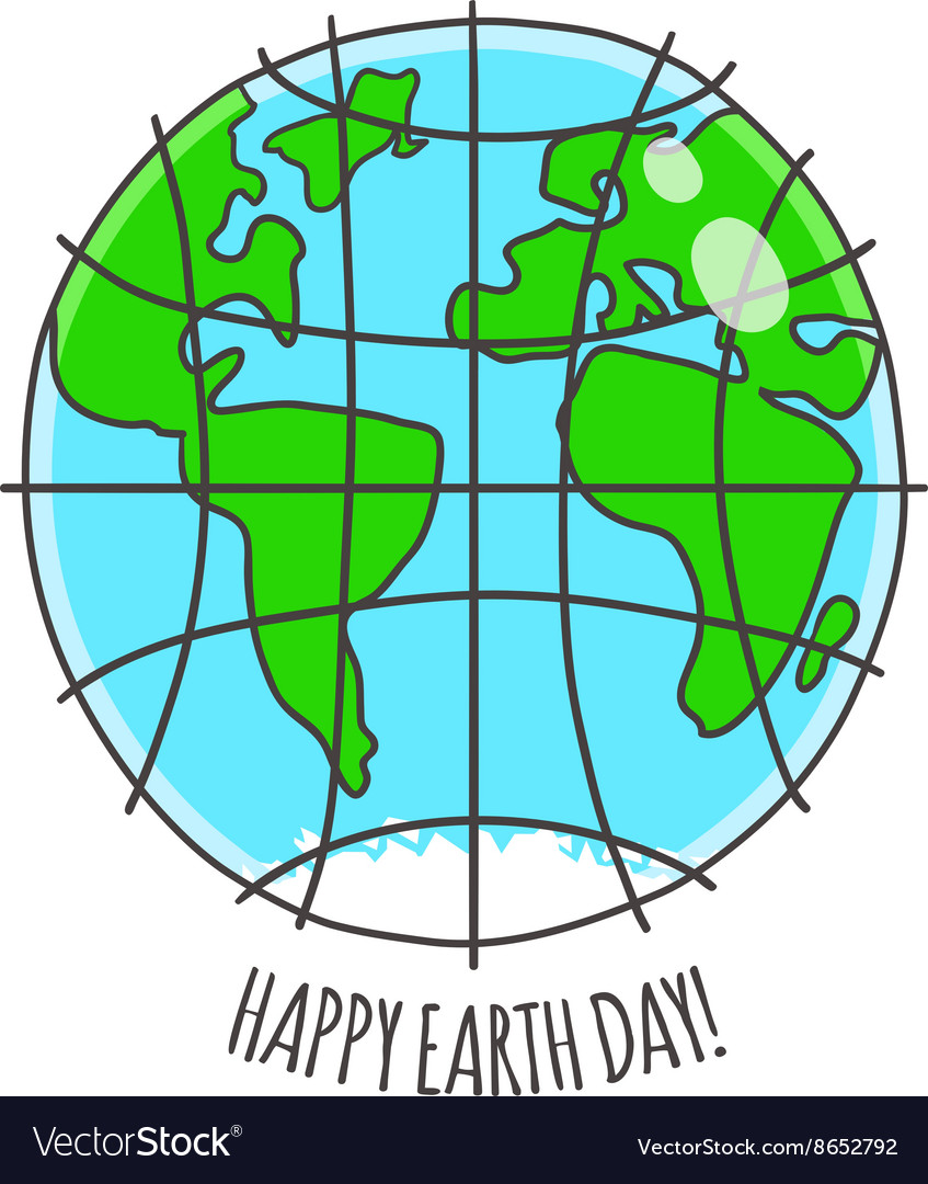 Happy earth day card vector
