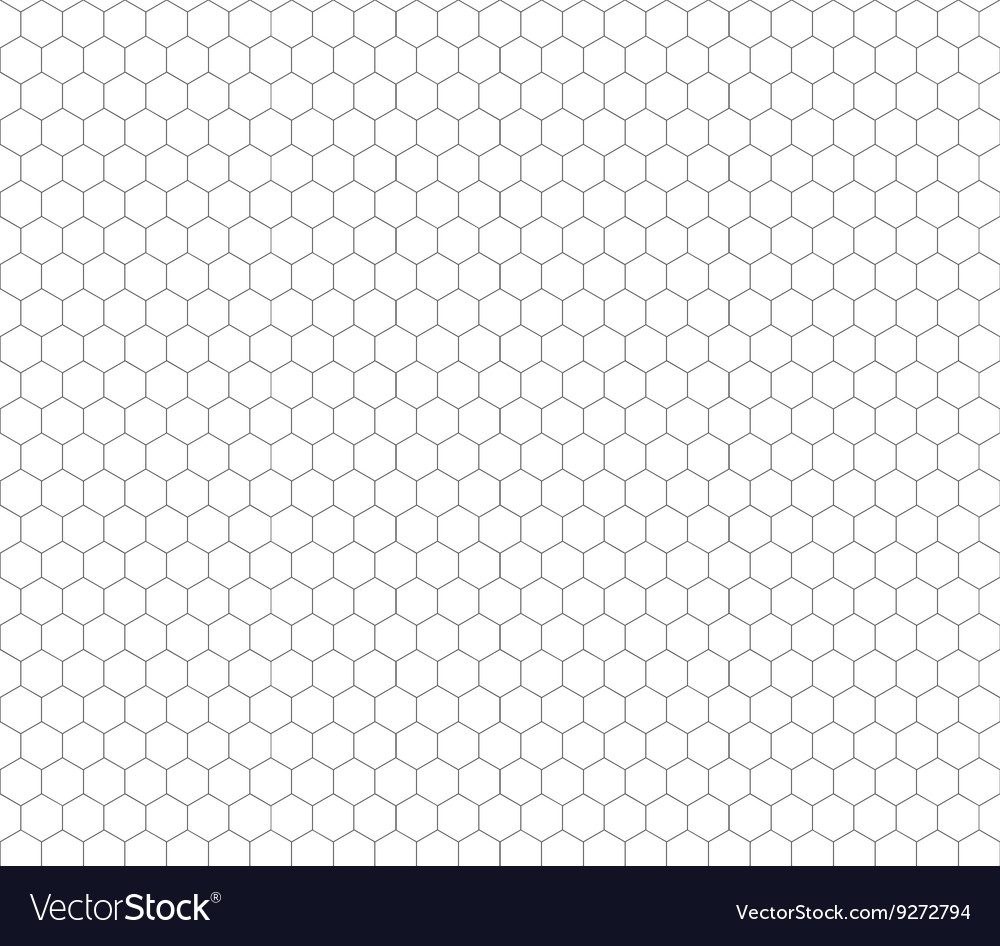 Gray hexagon grid seamless pattern vector