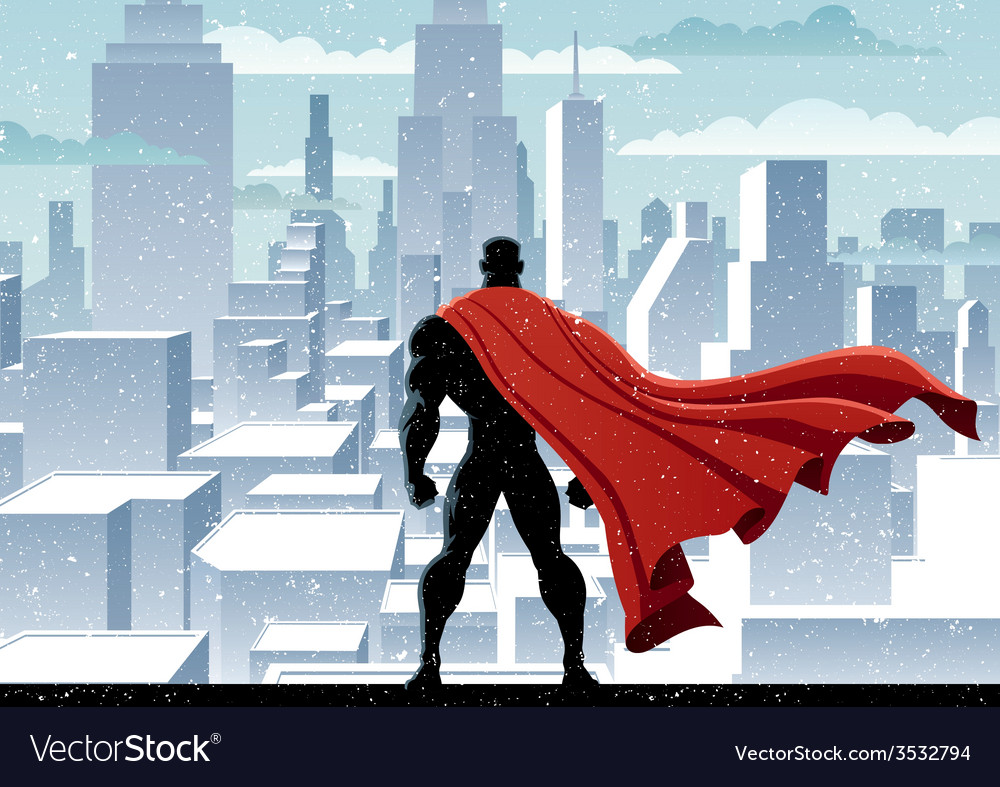 Superhero watch vector