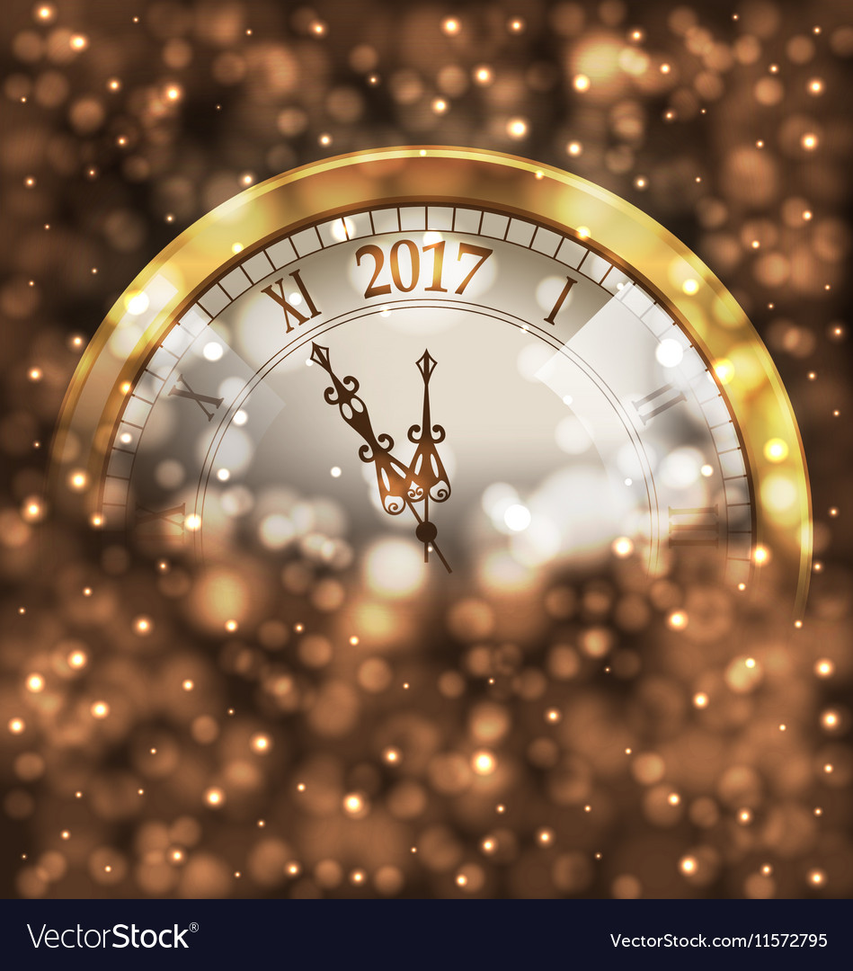 2017 new year midnight glowing background with vector