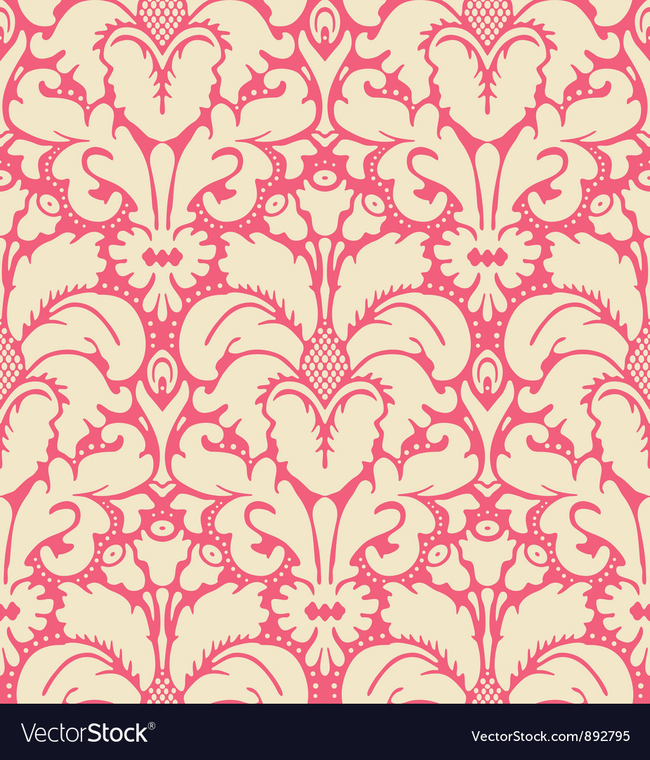 Baroque style damask background vector