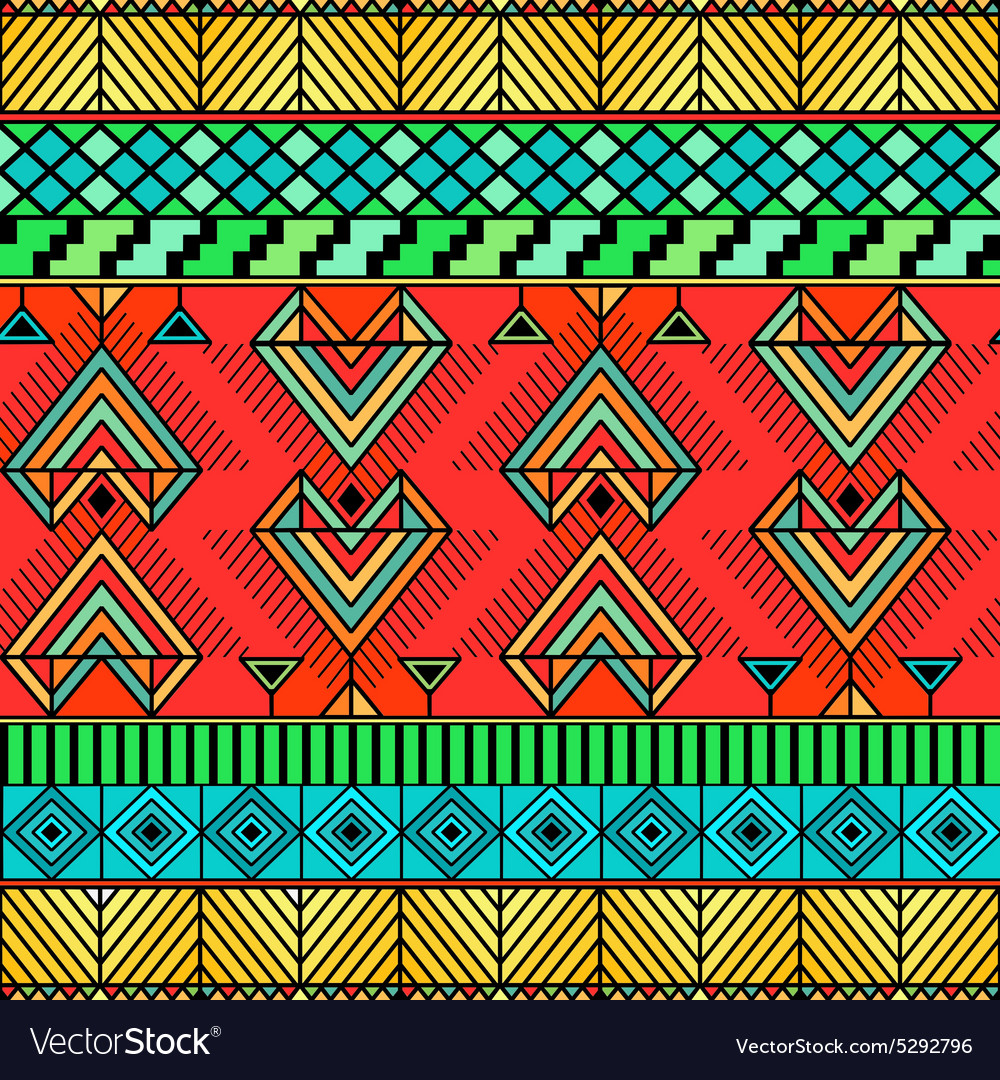 Bright ethno pattern vector