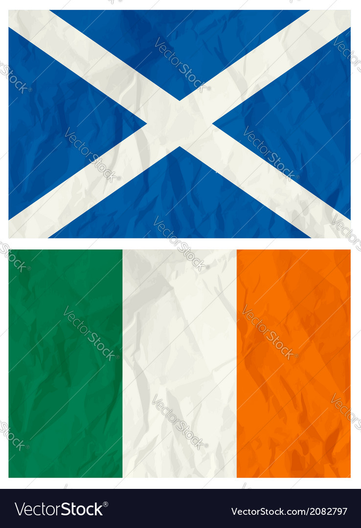 Scotland and ireland flag vector