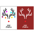 Christmas cards red nosed Rudolph vector image vector image