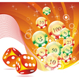 on a casino theme vector image vector image