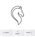 stylized horse head for mascot logo template on vector image vector image