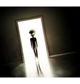 Alien at door vector image