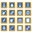 gmo icons set blue vector image