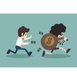 steal money from business man vector image