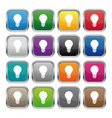Lamp metallic square buttons vector image vector image