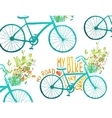 Vintage Summer Bike Composition with Bunch of vector image vector image