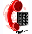 phone receiver and number vector image