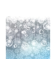 Elegant christmas with snowflakes EPS 8 vector image vector image