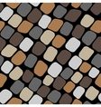 Seamless color pattern with paving stones vector image