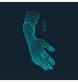 Human Arm Human Hand Model Hand Scanning vector image vector image