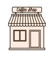 coffee shop building icon vector image