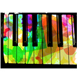 colorful piano vector image