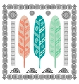 Design with Indian Feathers vector image