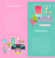 furniture and hallroom posters vector image