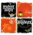 halloween set of backgrounds with lettering vector image