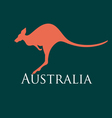 sign silhouette kangaroo vector image