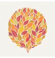 stylized autumn leaves vector image
