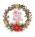 Christmas greeting card with citrusspiceDoodles vector image