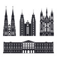 northern europe european buildings on white vector image