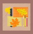 flat shading style icon notebook pen vector image