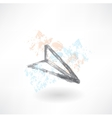 paper airplane grunge icon vector image vector image