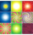 shining background vector image vector image