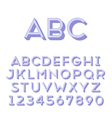 Handmade sans-serif font vector image vector image