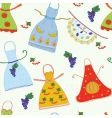 pattern with aprons vector image vector image