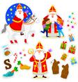 Sinterklaas collection vector image vector image