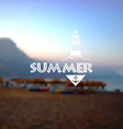 Blurred background with Summer holidays logo vector image