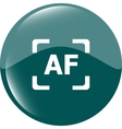 Autofocus photo camera sign icon AF Settings vector image