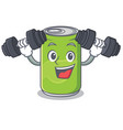 fitness soft drink character cartoon vector image