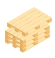 Isometric wooden pallet vector image