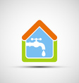 Logo House and tap water vector image