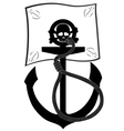 Pirate flag and anchor vector image