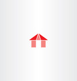 red house icon element sign vector image