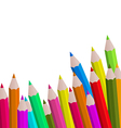 Set colorful pencils on white background vector image