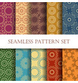 ten floral seamless patterns vector image
