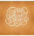 THANK YOU Hand lettering vector image