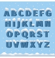Winter alphabet with snow vector image
