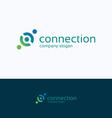 Connection company logo vector image